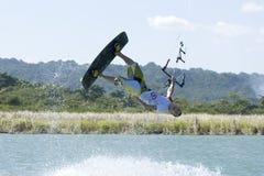 Kiting in der Dominikanischen Republik Stockbilder