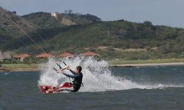 Kiting em Costa-Rica 1 imagens de stock