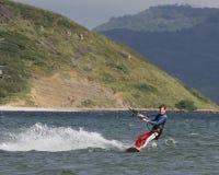 Kiting em Costa-Rica 3 fotografia de stock