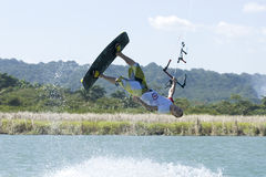 Kiting en la República Dominicana Imagenes de archivo