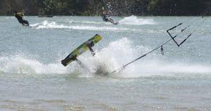 Kiting en la República Dominicana Fotos de archivo libres de regalías