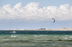 Kiting i Krim Arkivbilder