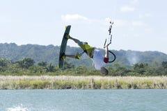 Kiting na República Dominicana Fotos de Stock Royalty Free