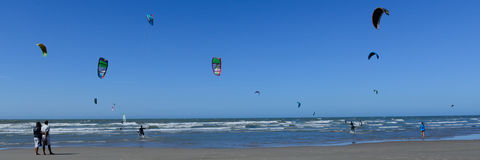 Kiting on a nice summers day Stock Image