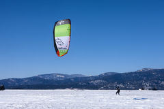 Kiting in north Idaho. Stock Image