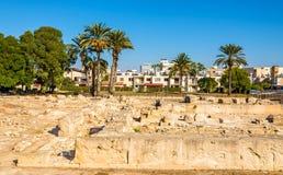 Kition antico, un sito archeologico a Larnaca Fotografia Stock Libera da Diritti