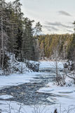 Kitkajoki河在Korouoma国家公园 库存图片