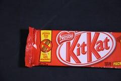 KitKat- sławny czekoladowy gatunek od Nestle! obraz stock