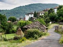 Kitnica 山村在保加利亚 罗多彼州山 免版税库存照片