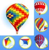 Kits and balloons Royalty Free Stock Images