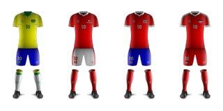 Kits génériques d'équipes nationales E du football Photos stock
