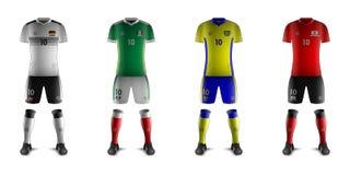 Kits génériques d'équipes nationales F du football Photographie stock libre de droits