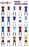 Kits génériques de Ligue de Football anglaise Images stock