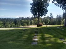 Kitsap peaceful rest cemetery stock photography