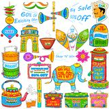 Kitsch art of India showing sale and promotion Royalty Free Stock Images