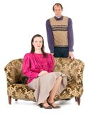 Kitsch couple problems Royalty Free Stock Photography