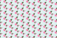 Kitsch floral pattern wallpaper with roses Royalty Free Stock Photography