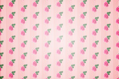 Kitsch floral pattern wallpaper with roses Royalty Free Stock Images