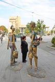 Kitsch-Statuen Skopje Stockfotografie