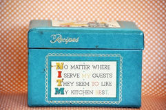 Kitschy Vintage Recipe Box Stock Images
