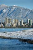Kitsilano Beach, Vancouver Winter Royalty Free Stock Photo