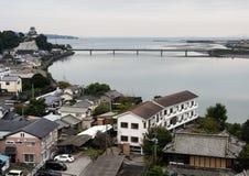 Kitsuki city panoramic view stock photo