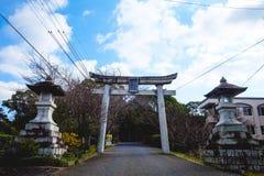 Kitsuki Oita prefektur, Japan-12 Januari: Ingången till Kitsuki Fotografering för Bildbyråer