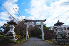 Kitsuki, prefettura di Oita, Giappone 12 gennaio: L'entrata a Kitsuki immagine stock