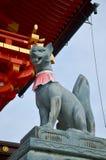 Kitsune or Fox statue for people visit and pray at Fushimi Inari. Taisha shrine of Inari, Fushimi Ku in Kyoto, Japan Stock Photos