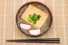 Kitsune soba noodles Royalty Free Stock Images