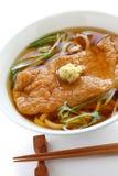 Kitsune udon面条,日本烹调 免版税库存图片