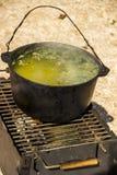 Kittel av soppa arkivfoto