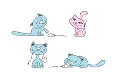 Kitten. Cute kitten cartoon character set Royalty Free Stock Images