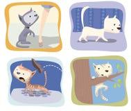 Kitten. Funny child illustrations of cats Stock Illustration