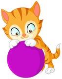 Kitten with ball Stock Photo