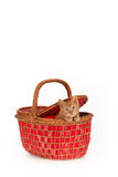 Kitten in a basket Royalty Free Stock Photo