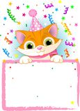 Kitten Birthday royalty free illustration