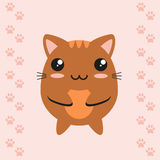 Kitten cartoon character Stock Photography