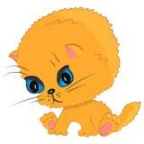 Kitten cat playing illustration Stock Images