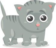 Kitten character cartoon illustration Royalty Free Stock Photo