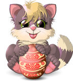 Kitten and easter egg Royalty Free Stock Image