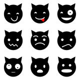 Kitten faces emotional Royalty Free Stock Images