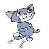 Kitten has eaten till full Royalty Free Stock Photography