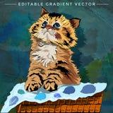 Kitten Illustration divertente Fotografia Stock