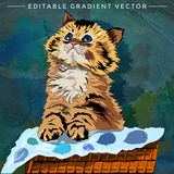 Kitten Illustration divertida ilustración del vector