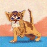 Kitten Illustration engraçada Fotos de Stock