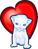 Kitten love heart Stock Images