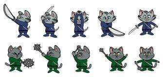 Kitten ninjas 2 Stock Photo