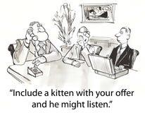Kitten offer vector illustration