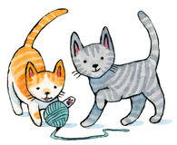 Kitten Play Royalty Free Stock Photo